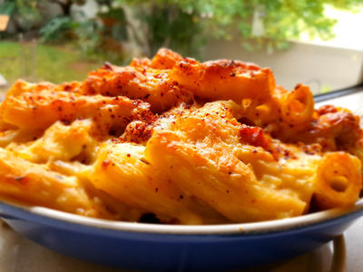 Mac 'n Cheese with Sundried Tomato and Bacon