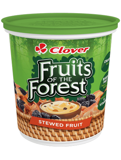 Picture of Clover Fruits of the Forest Stewed Fruit & Custard - 1kg