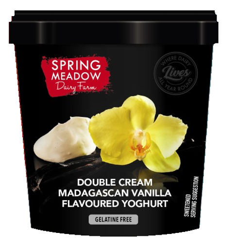 Picture of Yoghurt (Double Cream) - Madagascan Vanilla - 1Lt