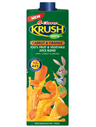 Picture of Clover Krush UHT Carrot & Orange - 1L