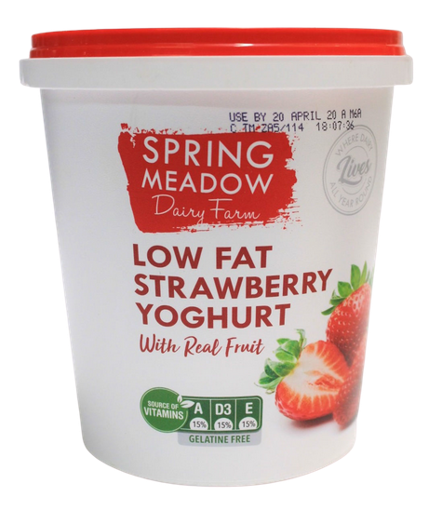 Picture of Yoghurt (Low Fat) Strawberry - 1Lt