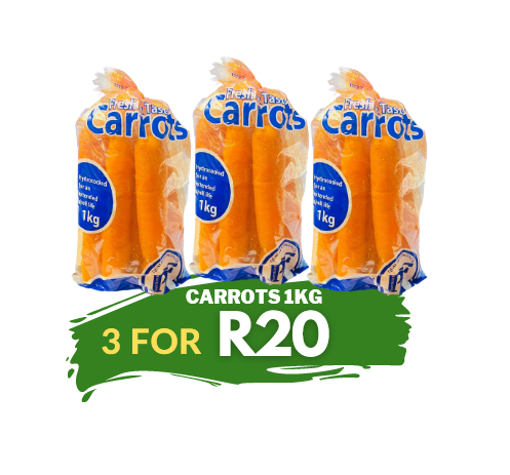 Picture of Carrots 1kg - 3 For R20