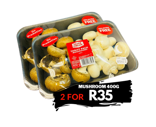Picture of Mushroom Promotion Pack 400g - 2 for R35