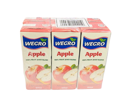 Picture of Wegro - Apple Juice 200ml 6 Pack