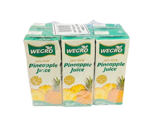 Picture of Wegro - Pineapple Juice 200ml 6 Pack