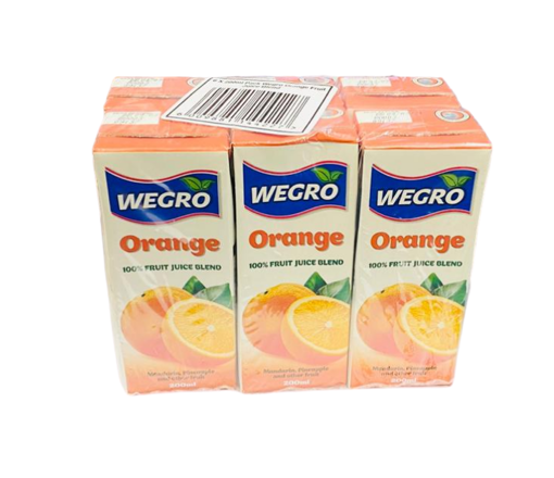 Picture of Wegro - Orange Juice 200ml 6 Pack