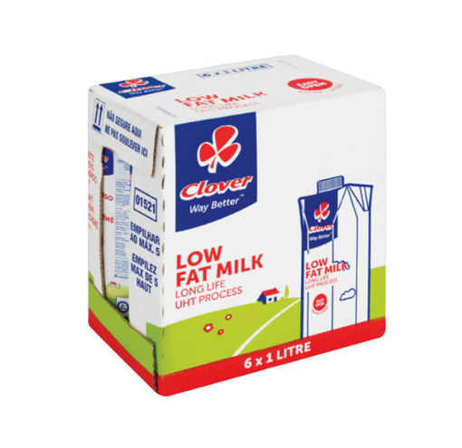 Picture of Clover Long Life Low Fat Milk 6 x 1L