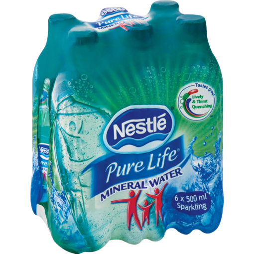 Picture of Nestle Pure Sparkling Natural Mineral Water 6 x 500ml